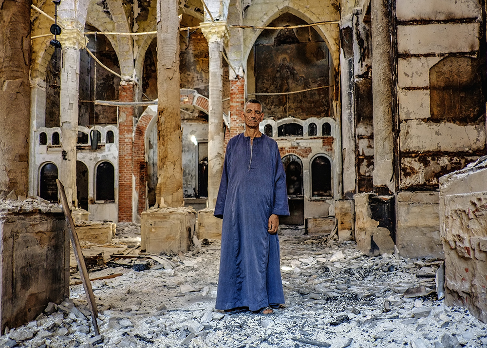 Coptic Church Burned Coptic Christina Church in
