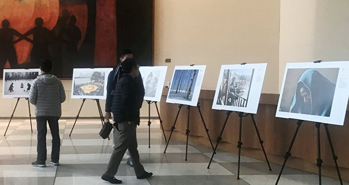 The exhibition of photographs of the Andrei Stenin International Press Photo Contest's finalists opened in the United Nations office in New York